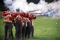 Waterloo- Rufford thru the ages 2016 (the.photo.joe) Tags: war waterloo napoleon welling duke 35mm film fuji guns smoke battle firing wellington rufford nottinghamshire canon eos 500