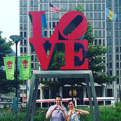 In Love in Love Park. #Philly #Philadelphia #lovepark #inlove #couple #relationship