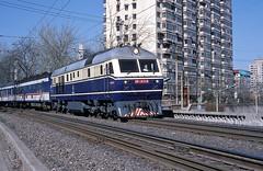 DF11-0114  Peking  15.04.99 (w. + h. brutzer) Tags: china analog train nikon eisenbahn railway zug trains locomotive peking lokomotive diesellok df11 eisenbahnen dieselloks webru
