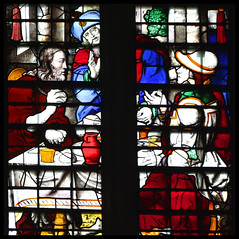 The Supper at Emmaus (English, 16th Century) (Simon_K) Tags: cambridge college church university king churches chapel stainedglass tudor kings cambridgeshire eastanglia 16thcentury cambs kingss