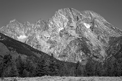 Mount Moran - Grand Teton National Park, WY, September, 2015 (Norm Powell (napowell30d)) Tags: travel blackandwhite bw mountain mountains landscape landscapes fineart wyoming mountmoran grandtetonnationalpark westernunitedstates therockymountains