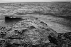 Walkway to the Sea (Photos By Clark) Tags: california bw mist pier boat rocks waves unitedstates sandiego cities places location where walkway northamerica nik lightroom locale canon2470 canon60d silverefx