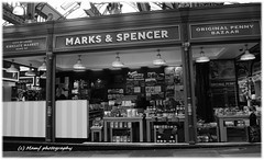 Marks & Spencer. (MAMF photography.) Tags: city uk greatbritain england blackandwhite bw blancoynegro blanco monochrome sex town blackwhite google nikon flickr noir noiretblanc market zwartwit unitedkingdom britain yorkshire negro north leeds ms gb upnorth zwart pretoebranco schwarz biancoenero westyorkshire marksspencer greatphoto googleimages northernengland enblancoynegro ls1 zwartenwit kirkgatemarket mamf inbiancoenero leedscitycentre blancoenero schwarzundweis nikond7100 mamfphotography