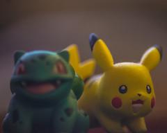 Pokemon (Monsieur Aimable) Tags: jaune miniature vert pikachu pokemon monstre