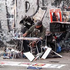 Paris Beaubourg - Artiste de rue. (Gilles Daligand) Tags: paris peinture rue beaubourg artiste peintre