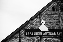 Ghost (Duda Arraes) Tags: old blackandwhite bw house building architecture europe belgium bricks ghost craft line diagonal brewery micro brew fantme microbrewery wallonia