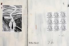 Roma. Trastevere. Street art by Mr.Minimal, Fishes Invasion (R come Rit@) Tags: italia italy roma rome ritarestifo photography streetphotography streetart arte art arteurbana streetartphotography urbanart urban wall walls wallart graffiti graff graffitiart muro muri streetartroma streetartrome romestreetart romastreetart graffitiroma graffitirome romegraffiti romeurbanart urbanartroma streetartitaly italystreetart contemporaryart mrminimal poster posterart fishesinvasion sticker stickerart stickerbomb stickervandal slapart label labels signscommunication trastevere