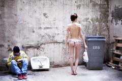 L'inconnue  la petite culotte (Alice Dardun) Tags: street woman paris panties nude walking freedom back underwear lyon femme panty lingerie dos libert unknown rue culotte marcher inconnue