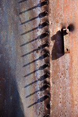 A Bunch Of Nuts (nedlugr) Tags: california ca usa rust shadows nuts rusty bolts ruraldecay sanluisobispocounty carrizoplain grainbin carrizoplainnationalmonument ruralwest