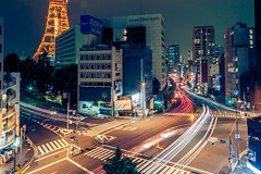 Kamiya-cho, Tokyo (Arutemu) Tags: street city urban streets japan night canon asian japanese lights tokyo asia cityscape nightscape traffic trails ciudad scene nighttime citylights    japonesa japon japones kanto  nightstreet japonais         japonaise         earthasia