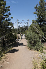 "Suspension bridge over Hellroaring Creek • <a style=""font-size:0.8em;"" href=""http://www.flickr.com/photos/63501323@N07/27761729391/"" target=""_blank"">View on Flickr</a>"
