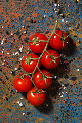 cherry tomatoes (cook_inspire) Tags: food cooking kitchen closeup dinner tomato menu recipe lunch pepper cuisine restaurant cookbook healthy natural background space border seasonal salt harvest bio vegetable fresh spices frame ingredients vegetarian organic concept diet template culinary preparation cherrytomatoes gastronomy nutrition cookery nutrient