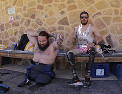 Andrew Searle & Chris Middleton (KnyazevDA) Tags: sea underwater wheelchair scuba diving disabled diver padi undersea handicapped amputee disability