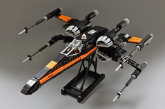 Poes T-70 X wing (1) (Inthert) Tags: black one star fighter ship force lego xwing wars poe resistance moc t70 awakens dameron bb8