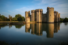 Castle Grounds (Ashley Hemsley) Tags: camera uk blue trees england sky reflection green castle art nature colors beauty weather clouds speed canon skyscape season point landscape geotagged photography sussex mirror spring focus long exposure flickr artist skies shot south united smooth creative kingdom location calm symmetry east reflect filter nd shutter 5d bodiam dslr moat uinque zomei