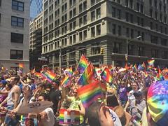 NYC Pride 2016 (Cait_Stewart) Tags: nyc newyorkcity gay newyork flag crowd hilary pride parade prideparade lgbt iphone prideflag nycpride lgbtflag pride2016 hilarycampaign nycpride2016