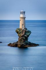 Lighthouse (vangeliskakavas) Tags: seascape rocks lighthouse long exposure lee big stopper landscape sea greece andros tourlitis 55200mm