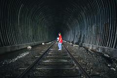 A Boy and His Tunnel (Thomas Hawk) Tags: california usa america unitedstates fav50 unitedstatesofamerica traintracks tunnel jackson richmond eastbay pointrichmond traintunnel fav10 fav25 fav100 jacksonpeterson