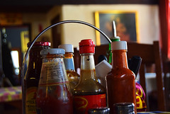 Condiments (martie1swart) Tags: southafrica pub condiments sauces dullstroom mpumulanga