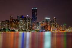 Miami (karinavera) Tags: city longexposure travel urban panorama night cityscape miami nikond5300