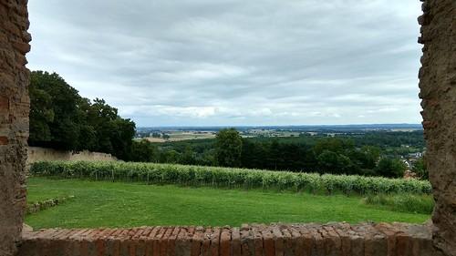 Fensterblick: Burgruine Landskron