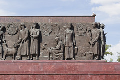 Worker and Kolkhoz Woman 2016 (jsekain) Tags: travel sculpture woman travelling statue russia moscow soviet worker basrelief kolkhoz workerandkolkhozwoman kolkhozwoman