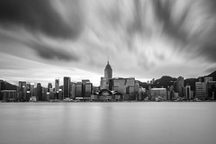 Hong Kong ([~Bryan~]) Tags: victoriaharbour harbour longexposure cityscape urbanlandscape sea daytimelongexposure ndfilter city hongkong weather cloudmovement bw
