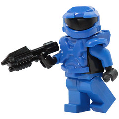 Mark 5 Figure! - Blue (X39BrickCustoms .com) Tags: lego brick mark 5 new armor halo space marine x39brickcustoms brickarms legos production red vs blue minifigures minifigs