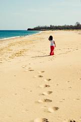 Walking away (nickodim) Tags: sea beach girl walking sand pentax sigma shore k10d