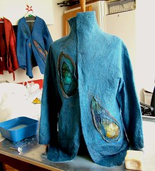 Felting the second day (B.ea) Tags: man men felting handmade felt jacket renata tutorial handcraft bea holkova holkov