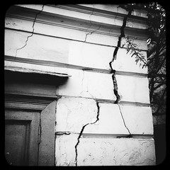 Crack [2] (Andrey  B. Barhatov) Tags: city urban blackandwhite bw noir msk worldmap citywalks iphonecamera kitcam