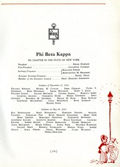 Phi Beta Kappa (Hunter College Archives) Tags: students yearbook fraternity hunter awards honors 1933 huntercollege studentorganizations phibetakappa organizations fraternities wistarion thewistarion