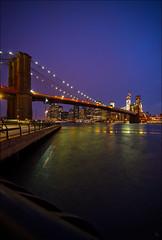 Brooklyn Bridge (Santa Cruiser) Tags: nyc newyorkcity night downtown nacht manhattan brooklynbridge pentaxart
