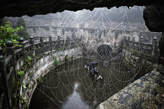 (uht_?) Tags: china trip travel mountain water statue river temple spider earth web cobweb sacred shan wudang