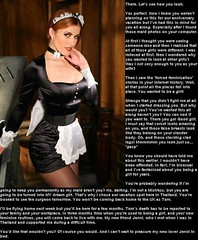 Man to maid (Jenni Makepeace) Tags: fetish transformation magic tgirl sissy caption captions mtf tgcaptions tgcaption
