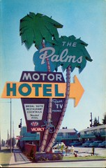 The Palms Motor Hotel, Portland OR (SwellMap) Tags: road signs monument public sign vintage advertising design 60s highway gate arch fifties message postcard suburbia entrance style kitsch retro billboard route nostalgia chrome freeway gateway billboards americana 50s lettering welcome roadside populuxe sixties babyboomer consumer coldwar midcentury spaceage atomicage archwaypc