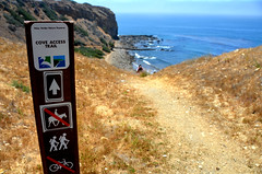 Cove Access Trail (Atwater Village Newbie) Tags: rancho palos verdes los angeles south bay ocean hike next gent may 2013 la california hiking men man mens mans dsc1185 sign cove access trail hikers beach pacific
