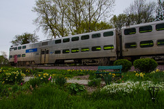 Metra Cab car (photo-engraver1) Tags: park railroad wisconsin train garden transportation metra trainspotting kenosha bilevel