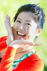 Voila! (Fesapo) Tags: portrait woman toronto ontario canada cute girl smile canon asian japanese spring pretty highpark dof bokeh 7d 桜 sakura hanami 花見 voila 135mmf2l cherryyblossoms