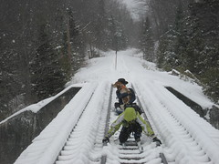Oh, and the dog too? (spinelli59) Tags: trestle adk trestlecrossingwithdognewcomb