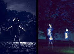Stars, light, and phantom duck calls #2 (dianne_smith) Tags: longexposure lightpainting silhouette night portraits stars photography texas unitedstates image paintingwithlight astronomy ghosts flashlights lightstreaks juxtaposed nightportraits diannesmith paintingwithflashlights