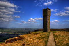 LUNDS TOWER, EARL CRAG, SUTTON-IN-CRAVEN, YORKSHIRE, ENGLAND. (ZACERIN) Tags: james diamond victorias tower ethel valley digitalcameraclub pictures hall queen hdr of lund earl victoria diamond images sutton pictures monument hdr jubilee england yorkshire crag tower towers airedale 2013 zacerin lunds suttonincraven pinnacle castellated lunds malsis 1897