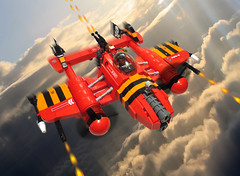 ZK-12 SABERTOOTH (nate_decastro) Tags: airplane lego aircraft fantasy scifi moc dieselpunk skyfy dieselpulp