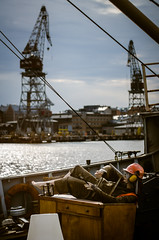 At the harbour (Daniele Zanni) Tags: west mannequin ferry boat wooden helsinki doll ship harbour terminal iceboxcool syymza danielezanni