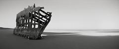 The Wreck of the Peter Iredale, Oregon Coast (austin granger) Tags: longexposure history film oregon sunrise skeleton rust time decay ruin pinhole shipwreck columbiariver wreck largeformat fortstevens peteriredale 4x10 graveyardofthepacific f287 austingranger photonbox
