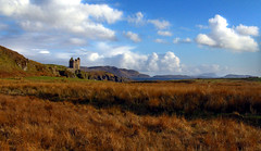Gylen Castle HDR (Prosthetic_Head) Tags: sea sky castle grass clouds landscape island coast scotland view hills oban hdr highdynamicrange kerrera gylencastle