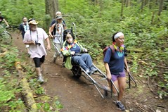 Lots of smiles... (PowellRiverMobilityOpportunitiesSociety) Tags: family friends nature sunshine river coast back teams walks country trails together powell society mobility opportunities disability accessibility friendships trailrider