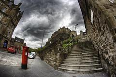 Granny Green´s steps (Bill Rabelo) Tags: edinburgh2013 edinburgh canon eos 400d rebel xti scottland escocia europe color hdr efex 2 nik software castle cloud sky cloudy storm uk bill rabelo frisbie