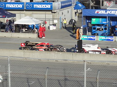 The P1 Battle on pit lane (toyzrus8) Tags: monterey p1 lagunaseca alms americanlemansseries mazdaraceway neeljani nickheidfeld klausgraf lucasluhr pickettracing rebellionracing musculemilk