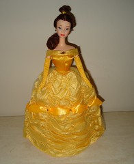 OOAK Belle Doll (Peter's_Toys) Tags: beauty yellow gold store doll dress barbie disney belle beast mattel